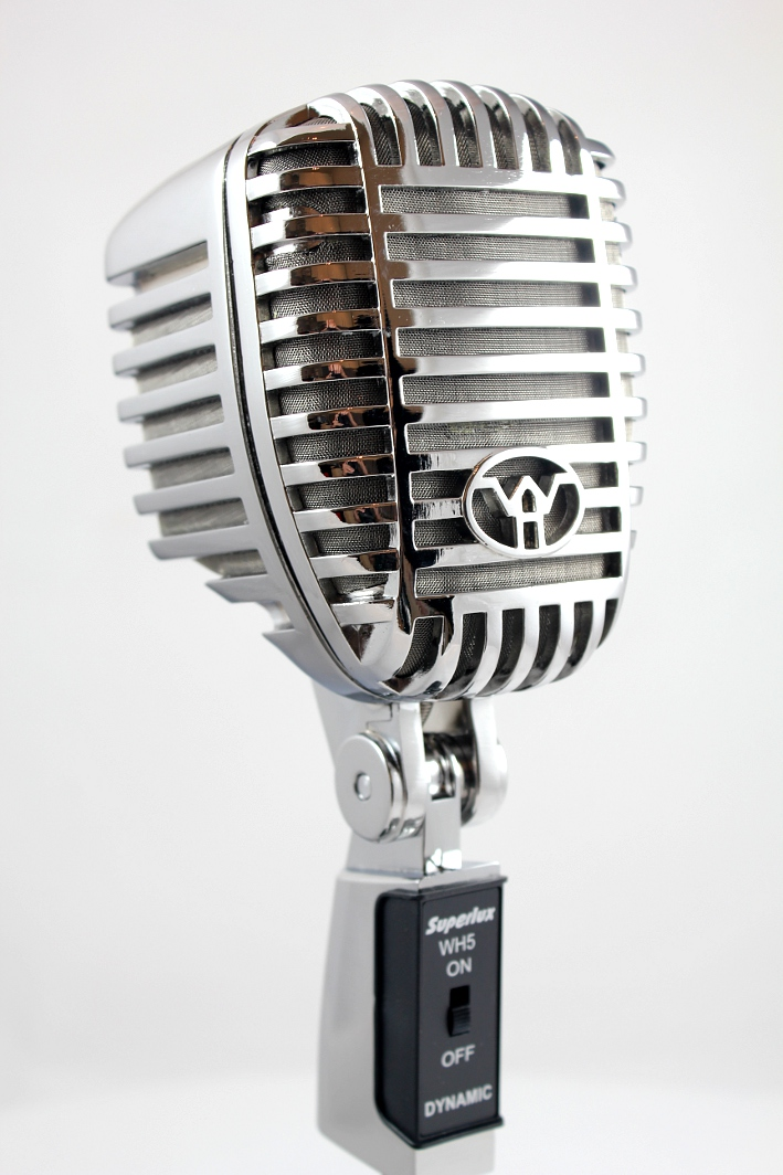 f8ef202b6 Details about Superlux WH-5 Classic Vintage Retro Style Microphone + Desk  Stand